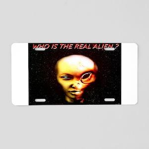 Jmcks Who Is The Real Alien Aluminum License Plate