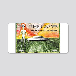 the greys have selected you Aluminum License Plate