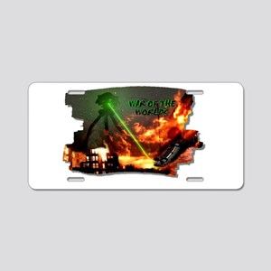 war of the worlds Aluminum License Plate