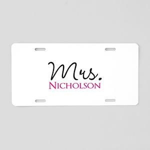 Customizable Name Mrs Aluminum License Plate