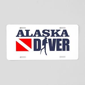 Alaska Diver Aluminum License Plate