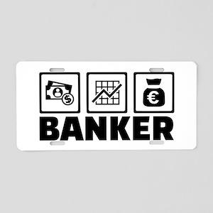Banker Aluminum License Plate