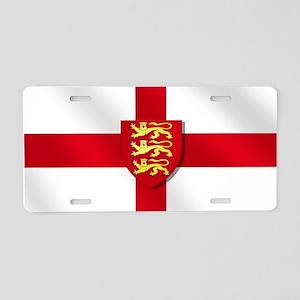 England Three Lions Flag Aluminum License Plate