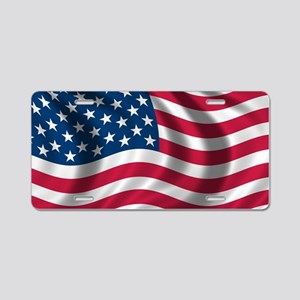 usflag Aluminum License Plate