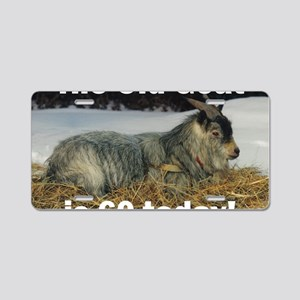 goat60ys Aluminum License Plate