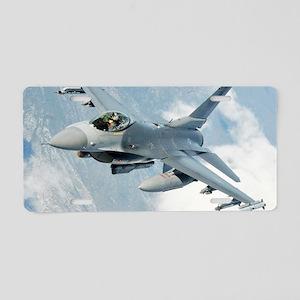 AB76 C-MNpst Aluminum License Plate