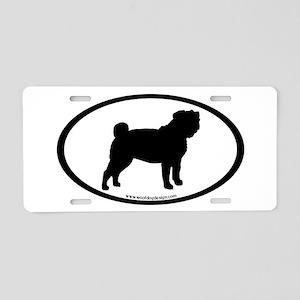 Pug Oval Aluminum License Plate