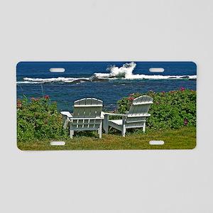 Surfside Oceanfront View Aluminum License Plate