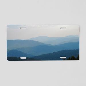 Blue Smokey Mountains #02 Aluminum License Plate