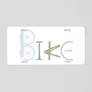 Bike Word From Bike Parts Aluminum License Plate