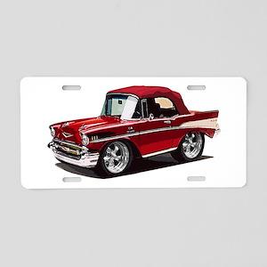 BabyAmericanMuscleCar_57BelR_Red Aluminum License