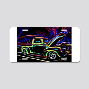 1940 Ford Pick up Truck Neon Aluminum License Plat