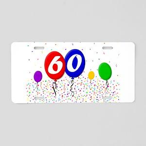 60th Birthday Aluminum License Plate