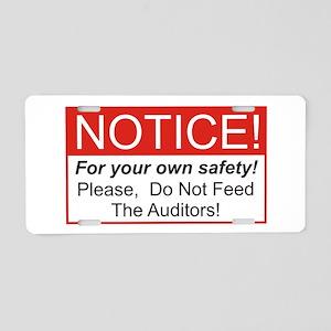 Notice / Auditors Aluminum License Plate