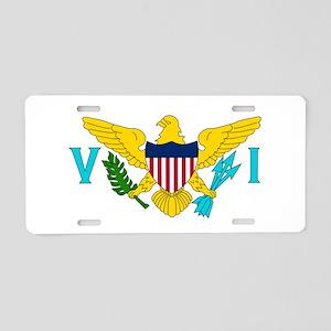 USVI Flag Aluminum License Plate