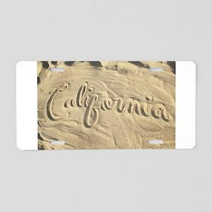 CALIFORNIA SAND Aluminum License Plate