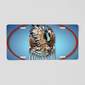 WallPeel Flying Hawk Oval Aluminum License Plate