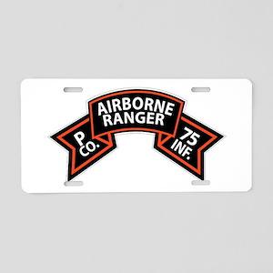 P Co 75th Infantry (Ranger) Scroll Aluminum Licens