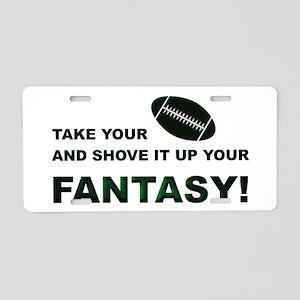 Shove It Fantasy-Football Aluminum License Plate