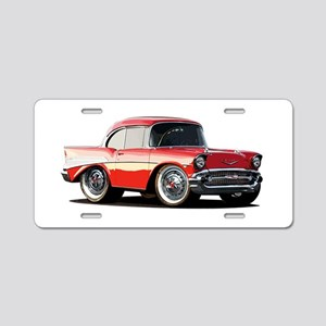 BabyAmericanMuscleCar_57BelR_Xmas_Red Aluminum Lic