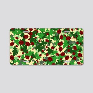 Ladybugs and Ivy on Sunny Y Aluminum License Plate