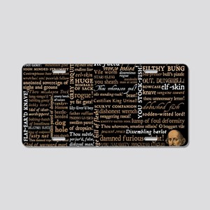 Shakespeare Insults Aluminum License Plate