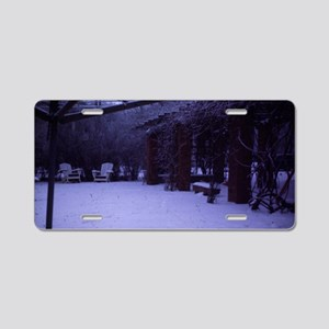PICT0054 winter scene w Aluminum License Plate