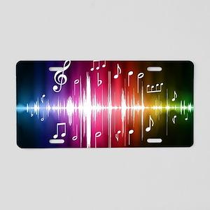Musical Note Aluminum License Plate