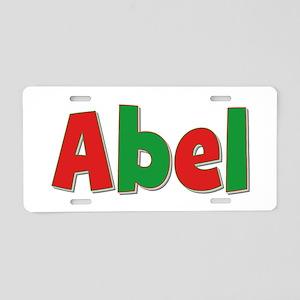 Abel Christmas Aluminum License Plate