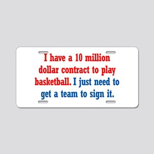 Basketball Contract Aluminum License Plate