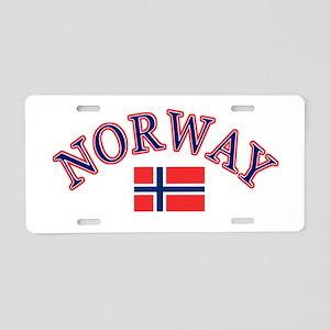 Norway Soccer Designs Aluminum License Plate
