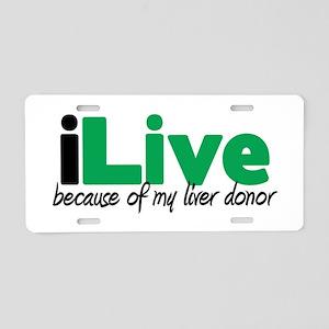 iLive Liver Aluminum License Plate