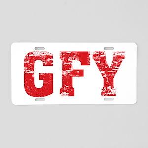 GFY Aluminum License Plate