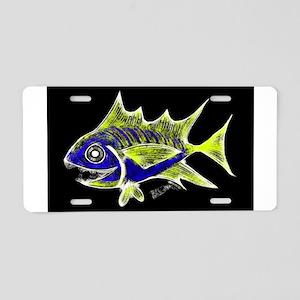 Retro Tuna 1 Art Aluminum License Plate