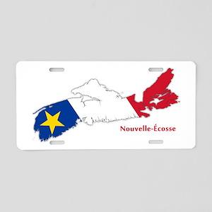 Acadian Flag Nova Scotia Aluminum License Plate