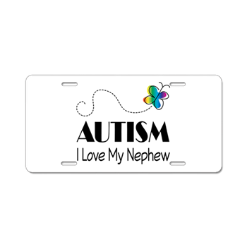 Autism I Love My Nephew Aluminum License Plate > AUTISM LICENSE ...