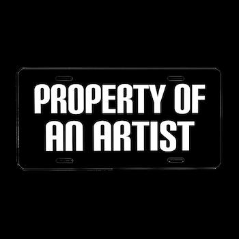 Artist Gift Funny License Plate > ARTIST LICENSE FRAMES > www ...