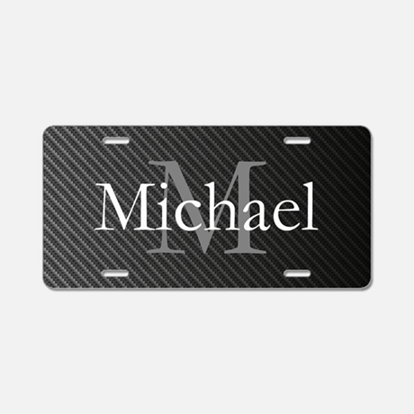 Monogram Name Aluminum License Plate
