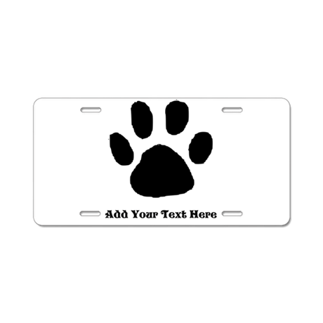 Paw Print Template Aluminum License Plate By Diy4