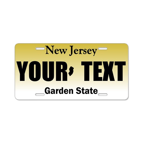 New Jersey Personalized license plate replica