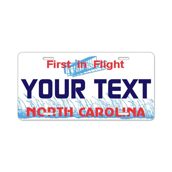 North Carolina - First in Flight license plate rep