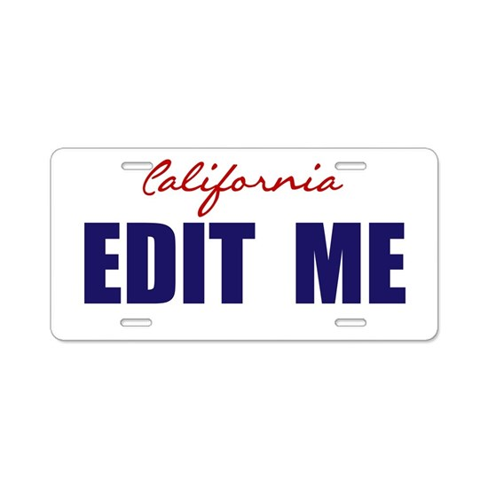 California Basic White License Plate