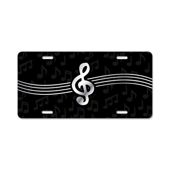 Stylish clef on musical note background
