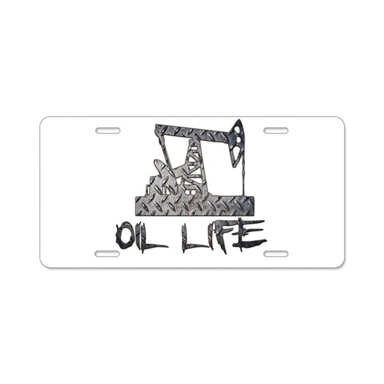 Diamond Plate Oil Life Pumpjack Aluminum License P by