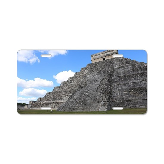 Chichen Itza Temple of Kuku Aluminum License Plate