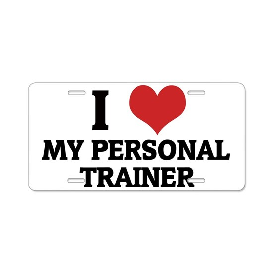 MY PERSONAL TRAINER Aluminum License Plate by T-Shirts