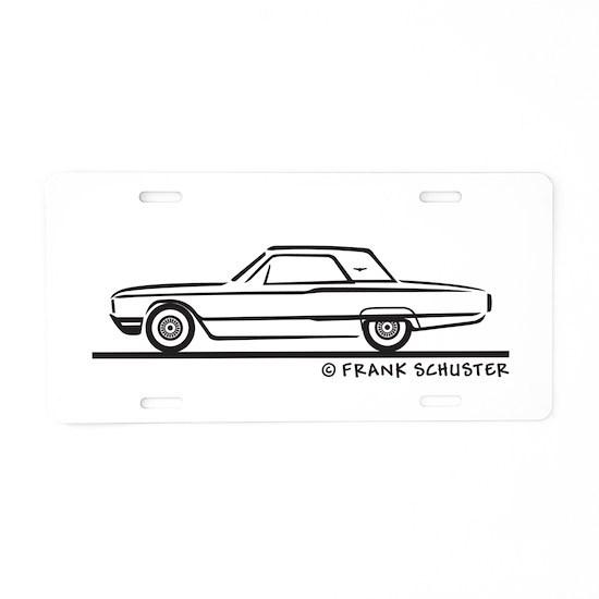 1964 Ford Thunderbird Hard T Aluminum License Plat by