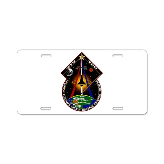 STS-129 Print Aluminum License Plate by Best_Military_and