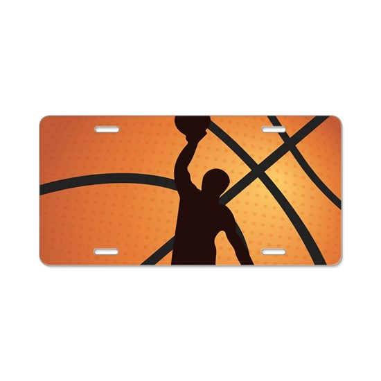da8d92224690 Basketball dunk Aluminum License Plate by WickedDesigns1 - CafePress
