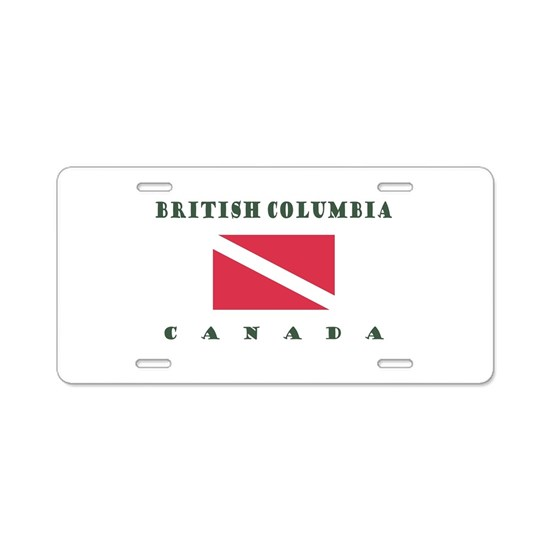 British Columbia Canada Alu Aluminum License Plate by Enso